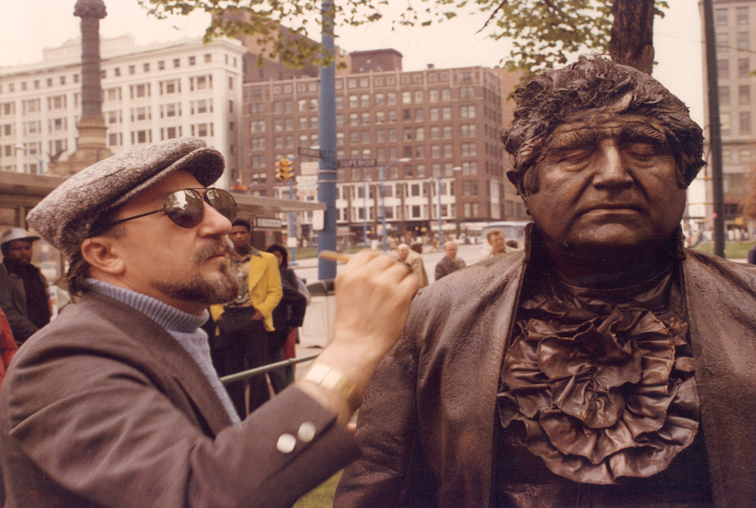gmfilms cleveland moses statue makeup cleveland ohio